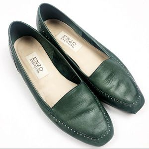 ENZO ANGIOLINI Green Loafers Size 9
